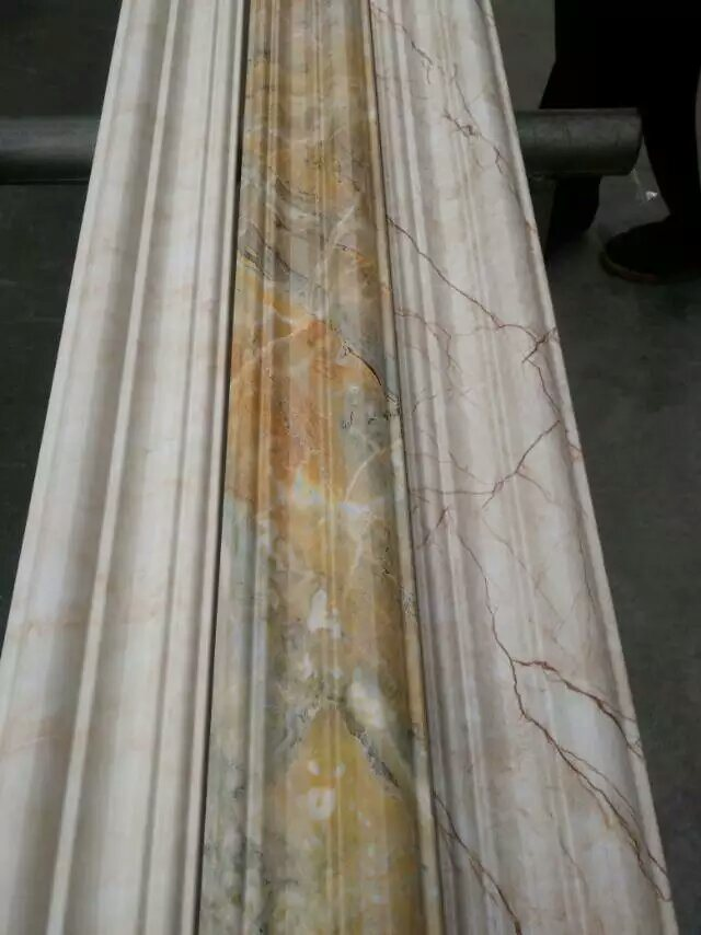corniche de pvc pour la d coration de plafond corniche de plafond de pvc photo sur fr made in. Black Bedroom Furniture Sets. Home Design Ideas