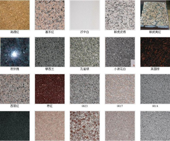 Granito de china rh110 granito de china rh110 for Colores granito pulido