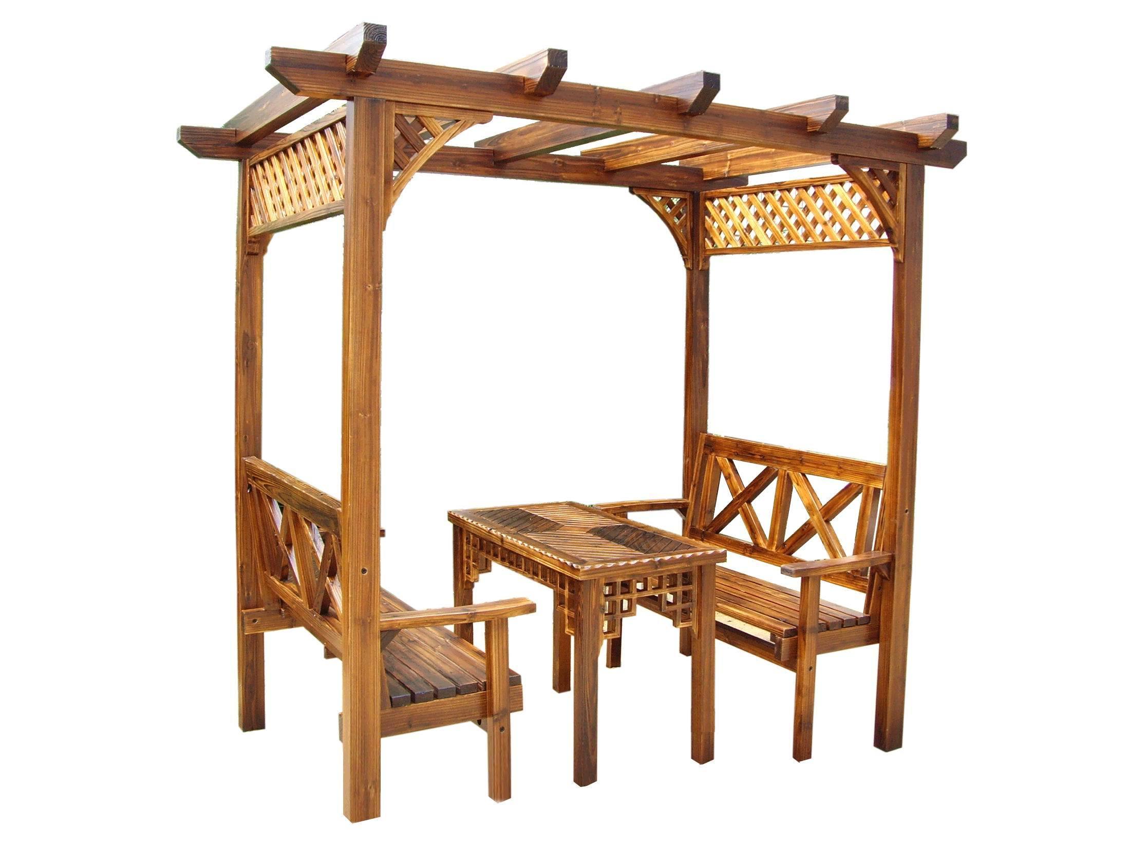 Gazebo de /Wooden del pabellón/muebles al aire libre (SC ...