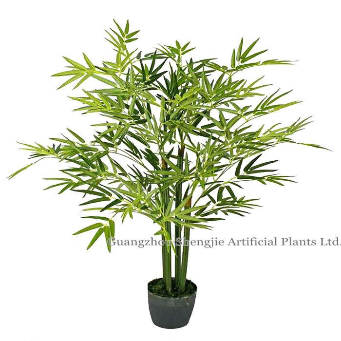 Arbre en bambou artificiel vert r aliste arbre en bambou for Arbre bambou artificiel