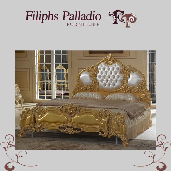 Het meubilair van de slaapkamer van de luxe het franse klassieke bed van de stijl 1106 het - Meubilair van de ingang spiegel ...