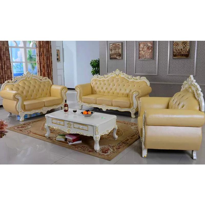 Sofa en cuir pour les meubles la maison en bois 929u for A la maison furniture