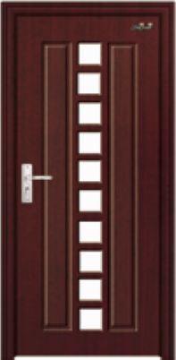 Puerta de cristal puerta de madera con el vidrio gj 025 for Puertas interiores de madera con vidrio