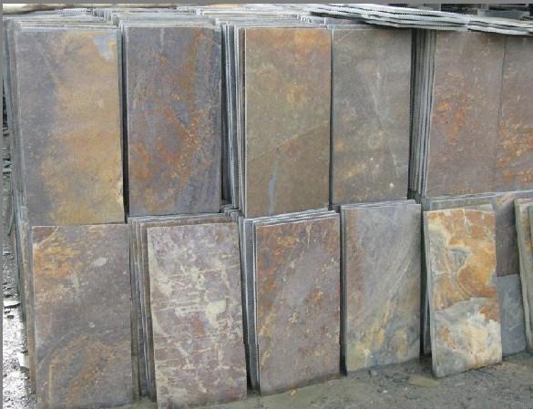 Pizarra oxidada del suelo fs013 pizarra oxidada del - Suelos de pizarra ...
