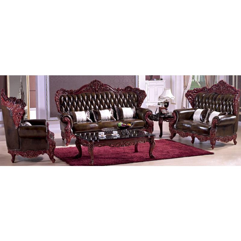 sofa en cuir avec le tableau en bois et le tableau de c t yf d818 sofa en cuir avec le. Black Bedroom Furniture Sets. Home Design Ideas