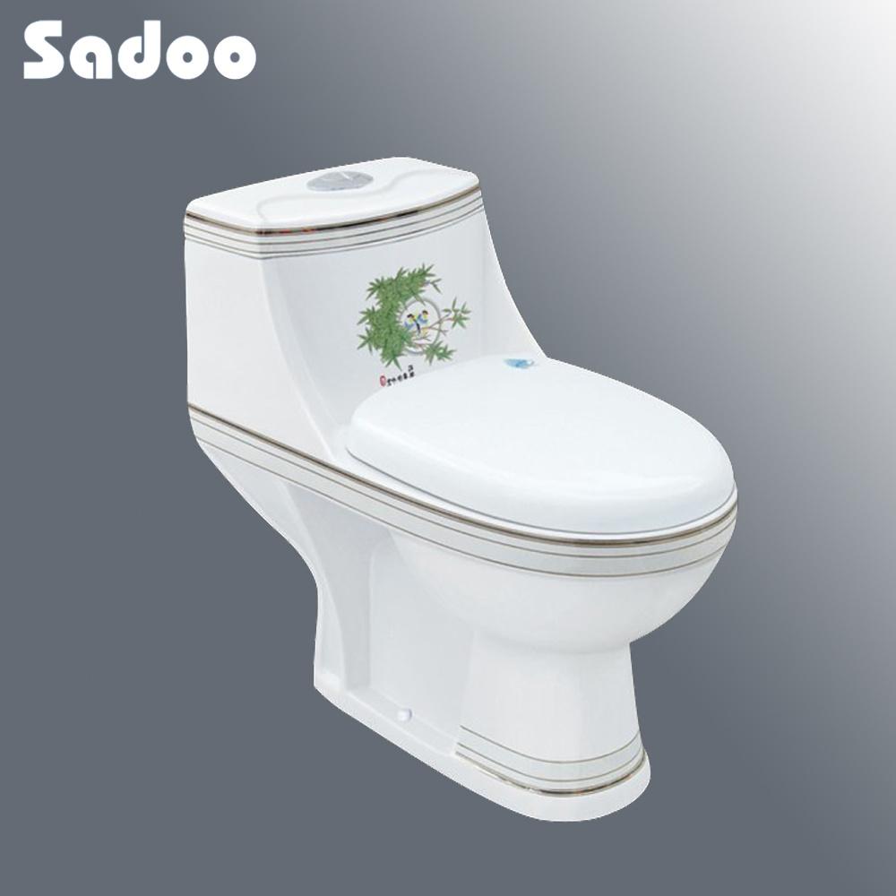De ndelige vloer van de verf van de kleur opgezet ceramisch toilet br a33 de ndelige - Kleur voor toilet ...