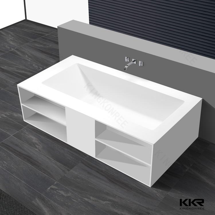 Vasca da bagno indipendente di marmo della pietra della - Vasca da bagno in resina ...