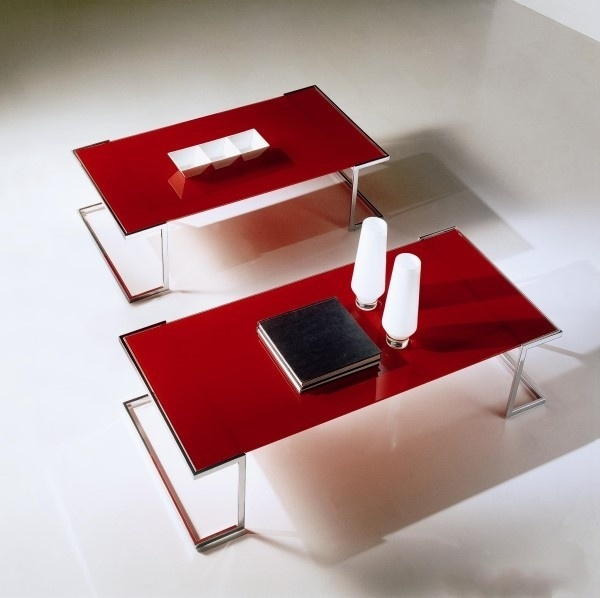Mesa de centro de cristal del acero inoxidable ctm 109 - Mesa centro cristal y acero ...