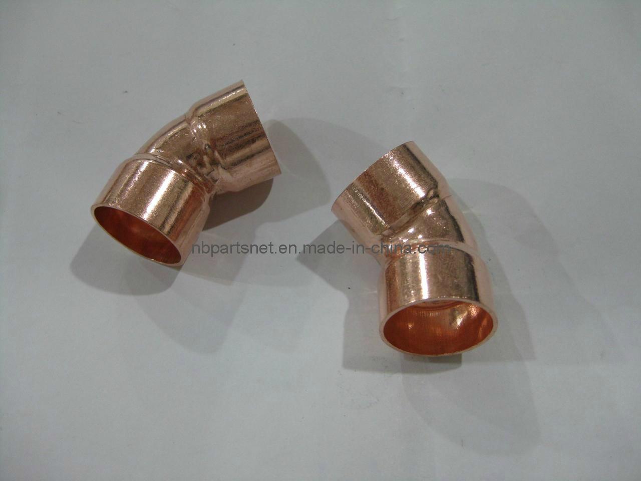 C x c un gomito da 45 gradi accessorio per tubi di rame for Tipi di tubi di rame