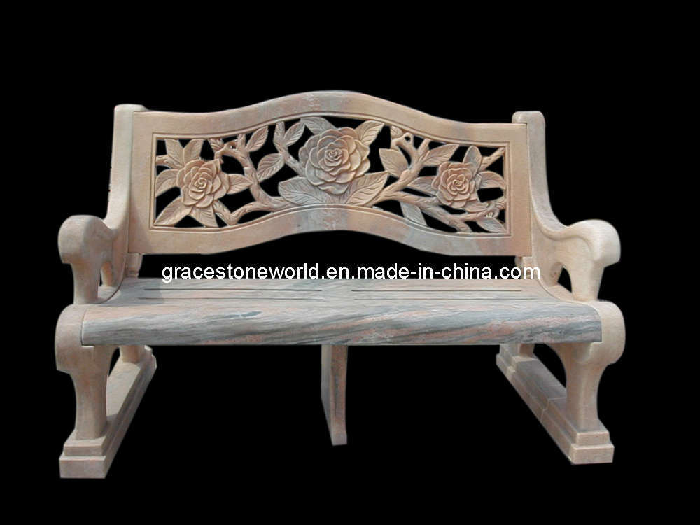 Stone bench marble carved garden bench gs tb 021 stone for Banc de jardin en pierre