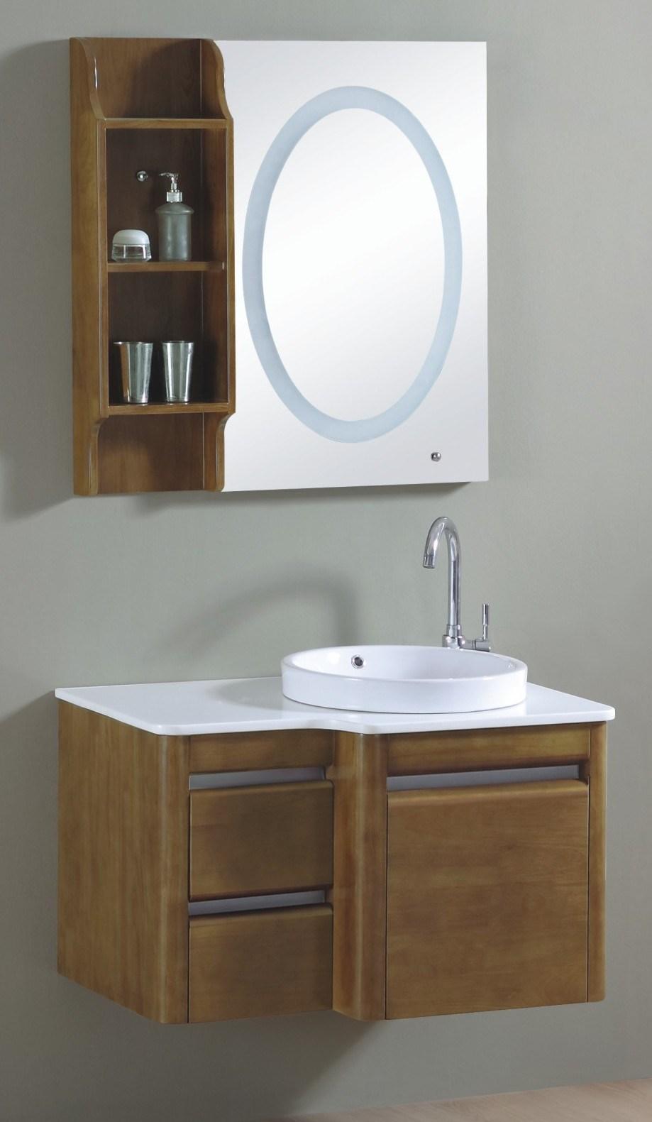 Armario De Parede Para Banheiro Pequeno : Arm?rios de banheiro madeira fixados na parede do ?nico