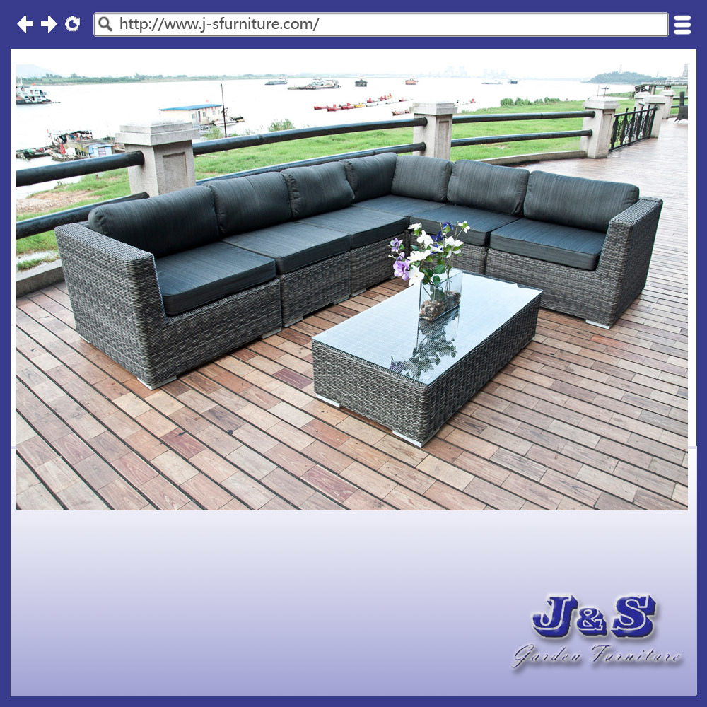 Ensemble de sofa de patio de jardin meubles en osier for Ensemble meuble de jardin