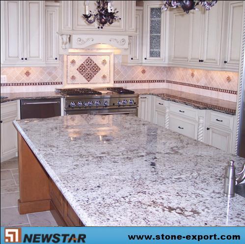 Piano d'appoggio bianco della cucina del granito (CX75) – Piano d ...