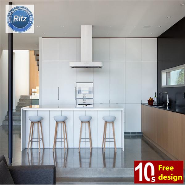 Foto de Blancos modernos Muebles de Cocina, de alto brillo de PVC ...