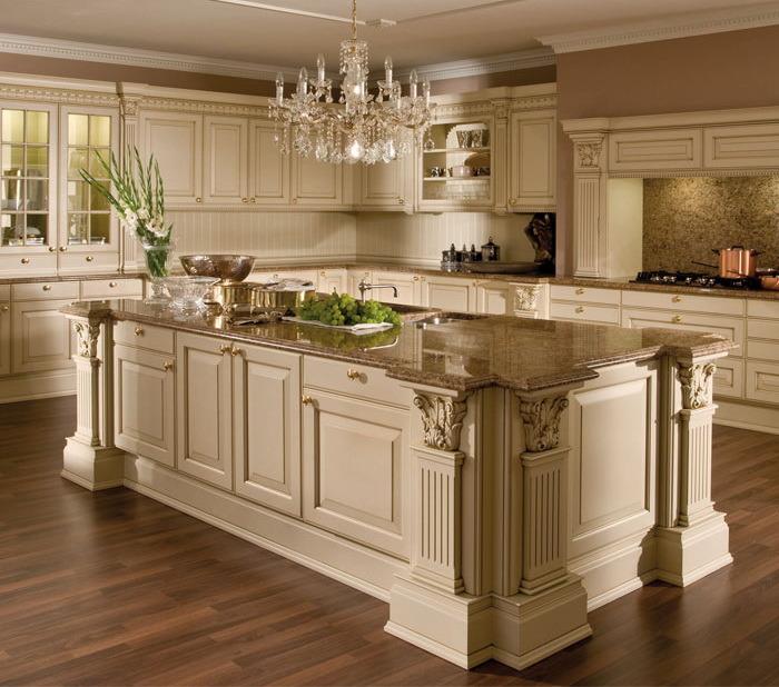 Meuble de cuisine haut de gamme en bois massif armoire de for Meuble armoire de cuisine