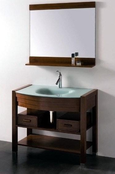 Altos muebles brillantes del cuarto de ba o bv 058 - Muebles altos de bano ...