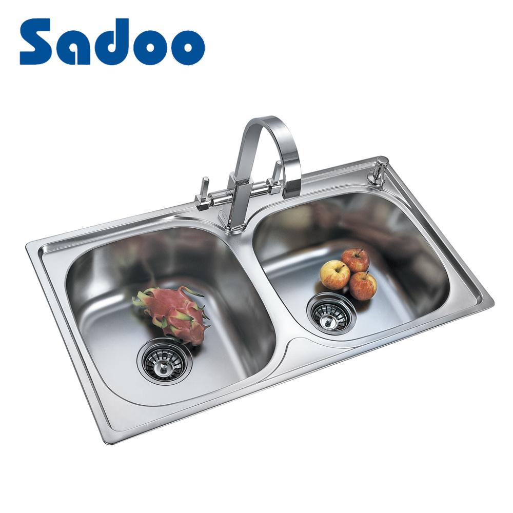 Acero Inoxidable Indian Kitchen Sink Diseño, Pila