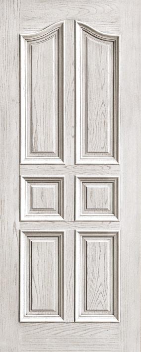 Puertas blancas levantadas de madera s lida de la pintura for Puertas de madera blancas