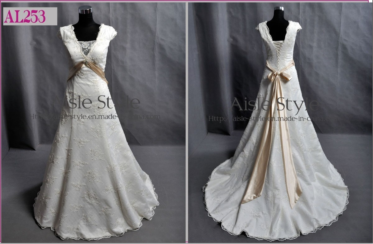 Le double chapeau gaine la belle robe de mariage al253 for Robes de mariage double baie