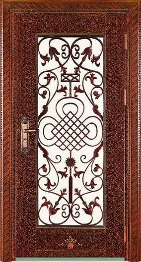 Puertas del hierro labrado hl j59 puertas del hierro for Imagenes de puertas de metal