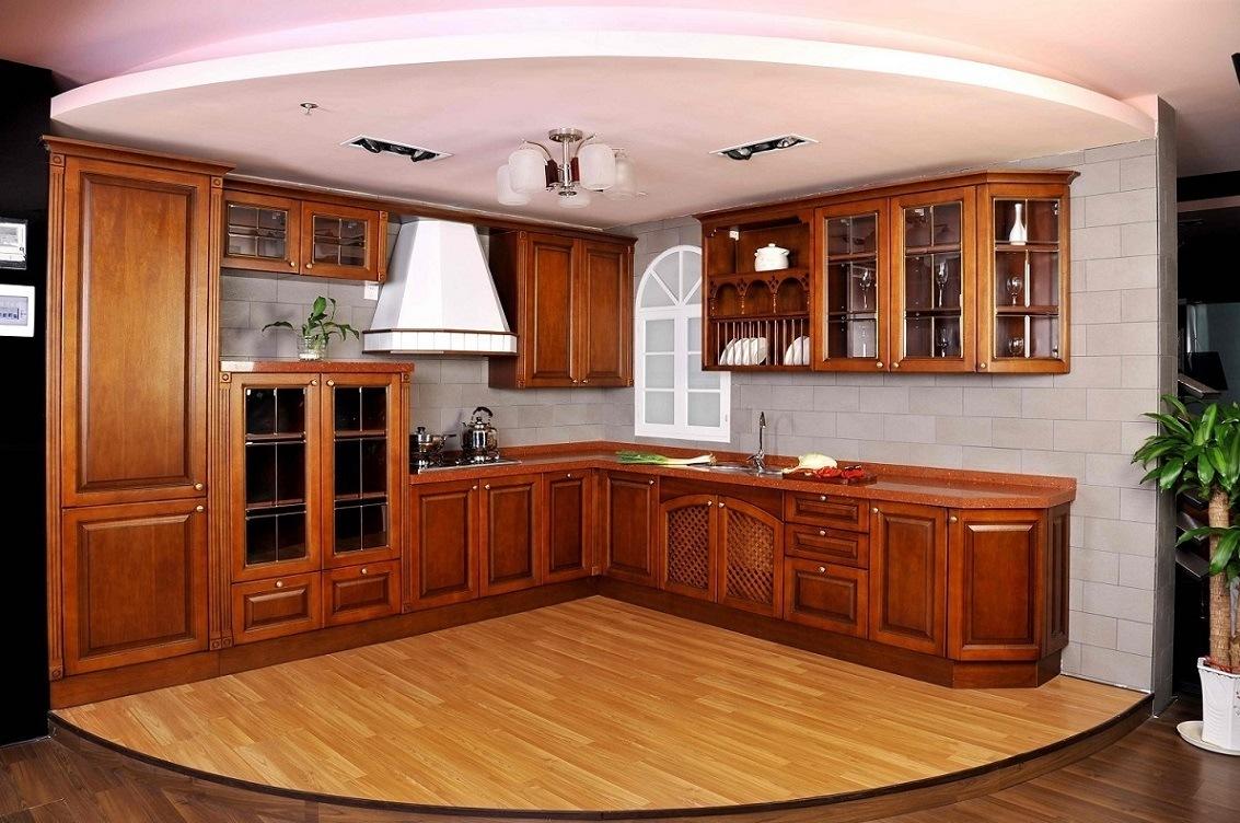 Kastanie-Avalon vertiefte (Kastanie) festes Holz-Küche Cabient ...