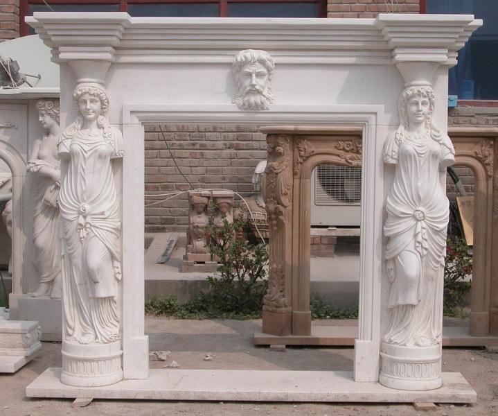 Chimeneas de m rmol de odm oem estatua tallada de la - Precio de marmol ...