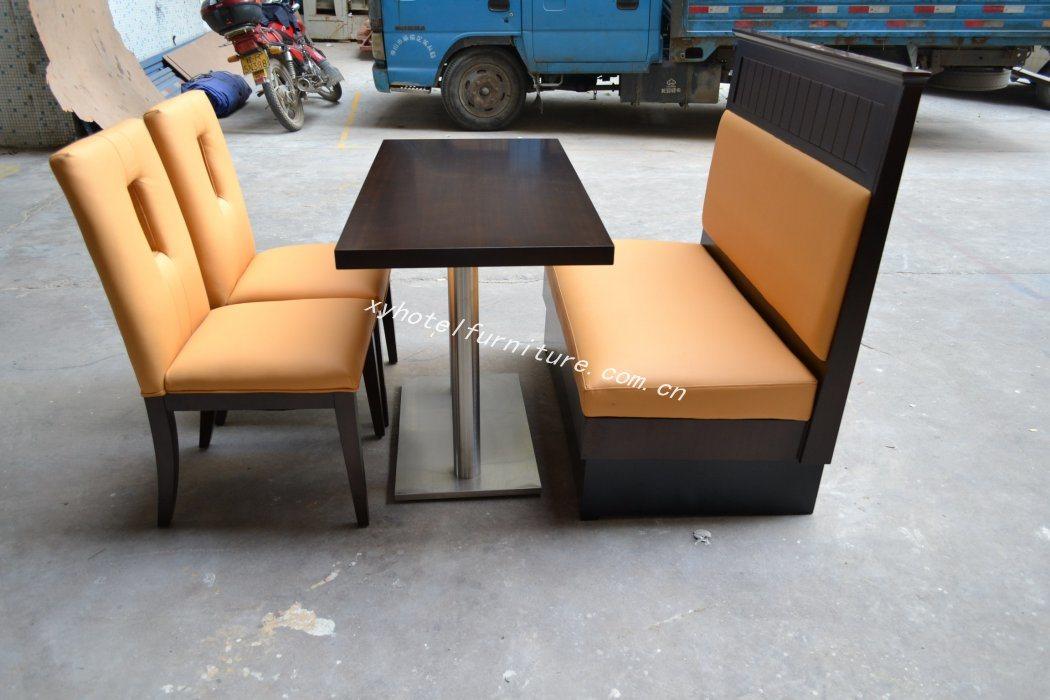 Silla moderna del restaurante con el sof de la cabina de for Mesas para restaurante usadas