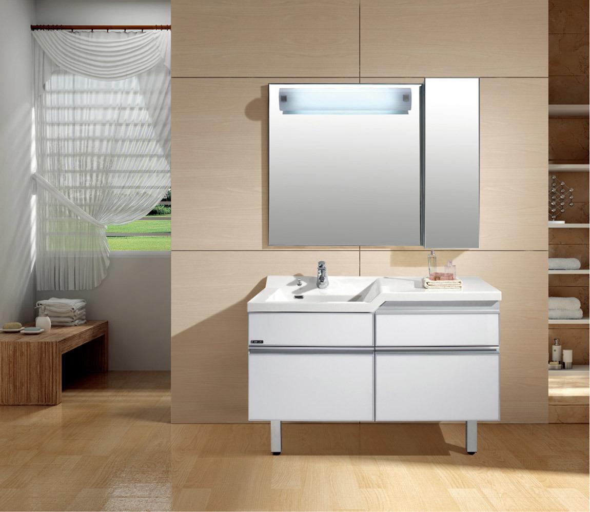Foto de Vaidade do banheiro, armário de banheiro com armário do espelho (S120 -> Armario Para Banheiro Aereo Com Espelho