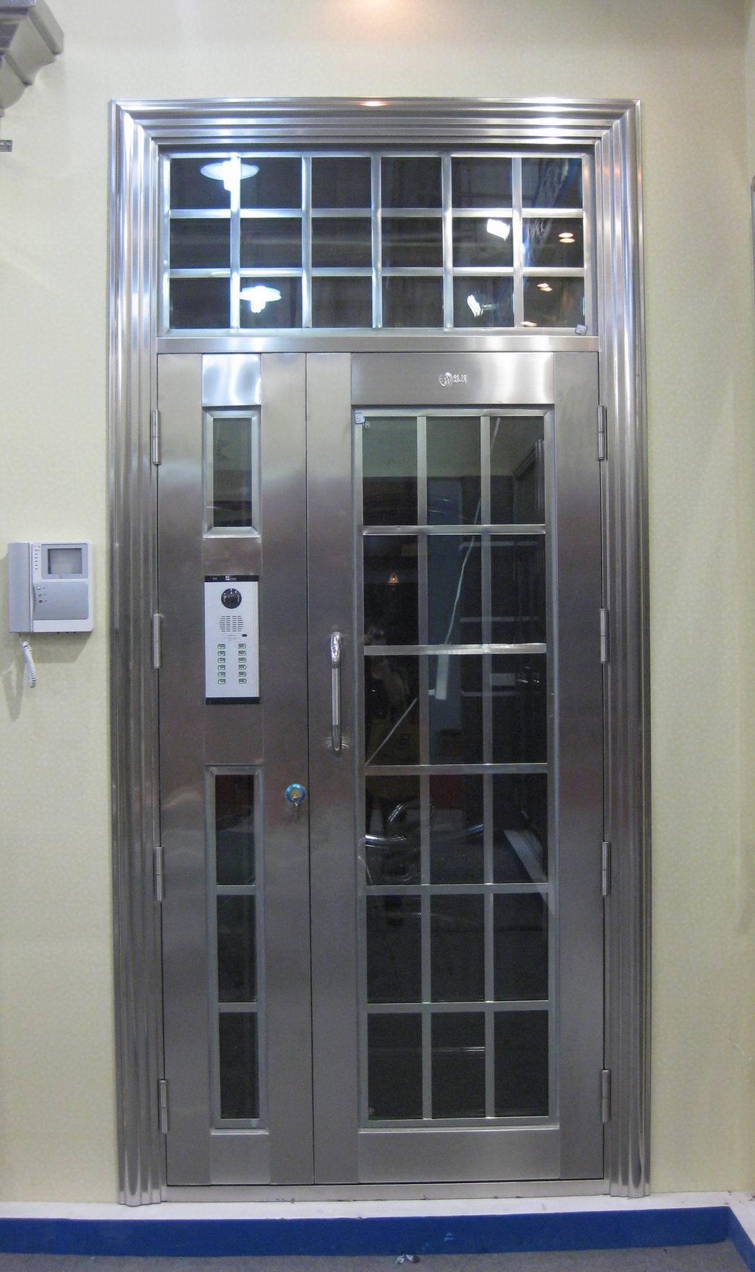 Puertas del acero inoxidable afol s5022 puertas del for Puertas de metal para exterior