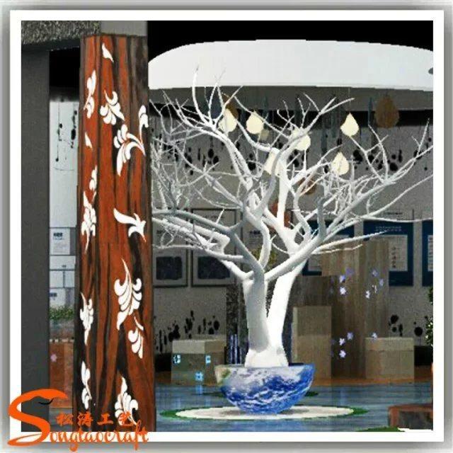 Rami di albero asciutti bianchi artificiali decorativi dellinterno ...
