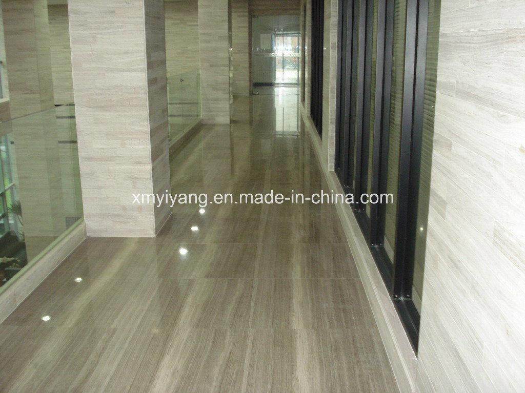 Par Marble Floor : Wood gris grain marble tile pour floor et wall