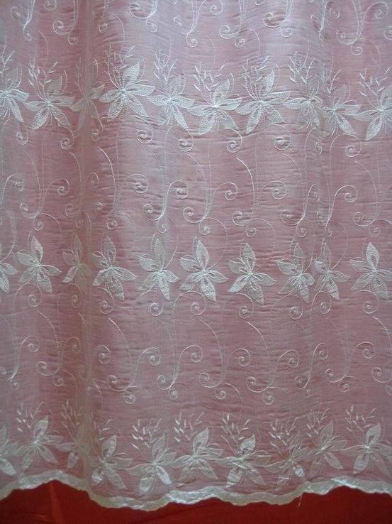 Tela de la cortina de la gasa del bordado tela de la - Cortinas de gasa ...