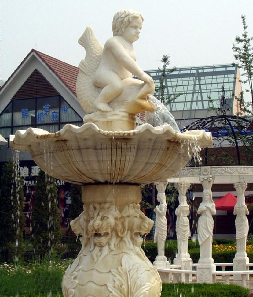 Fuente de agua tallada m rmol natural para el jard n - Fuentes de marmol para jardin ...