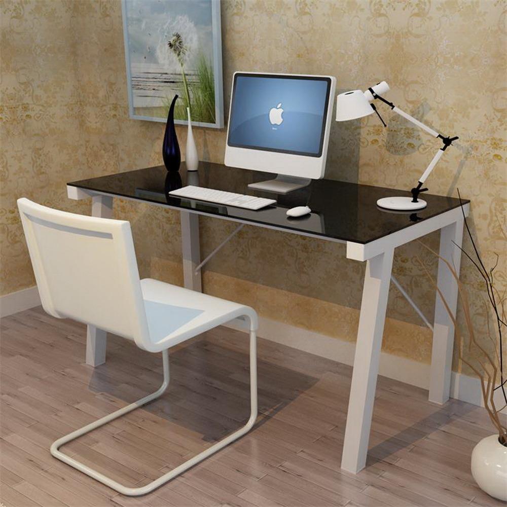 Foto de escritorio de oficina de cristal del metal moderno for Muebles oficina cristal