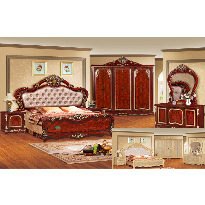 Los muebles del dormitorio fijaron con la cama de la for Cama de 54 pulgadas