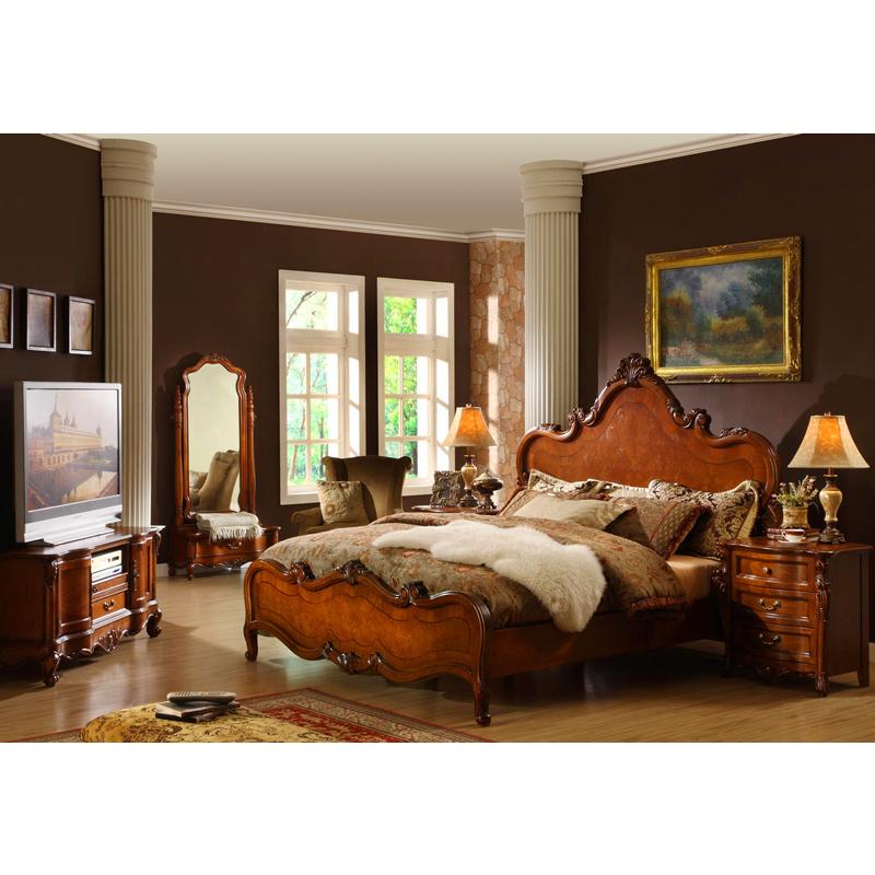 Muebles de madera antiguos del dormitorio de la f brica - Muebles de dormitorio antiguos ...