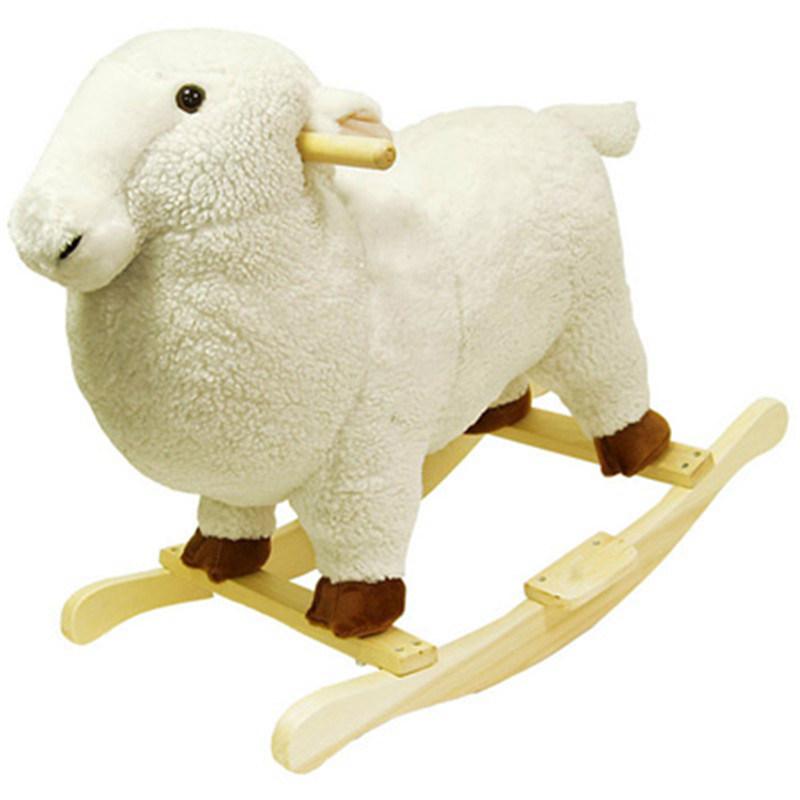 beb wholesale stuffed plush sheep rocking chair ride en. Black Bedroom Furniture Sets. Home Design Ideas