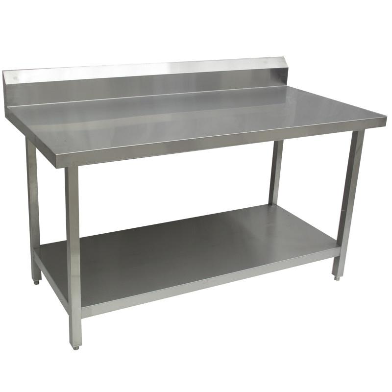 Tabla de trabajo de la mesa de trabajo del acero inoxidable con el estante inferior tabla de - Mesa de trabajo acero inoxidable ...