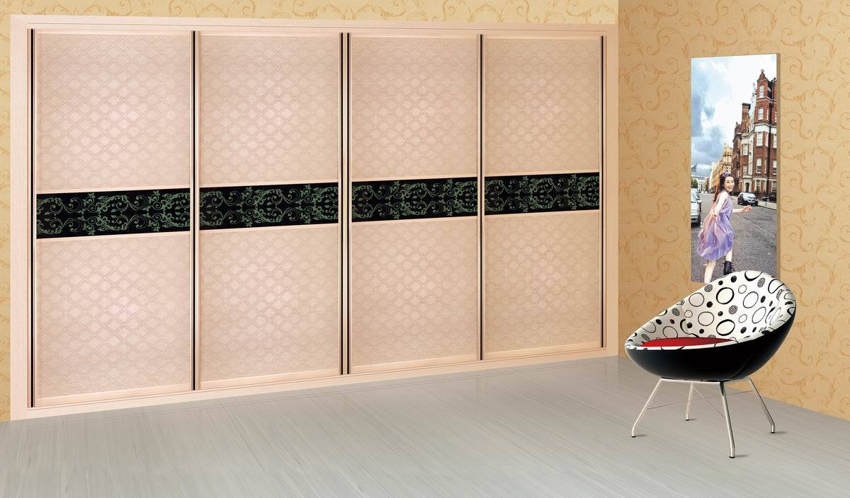 garde robe en bois avec la porte coulissante d 39 armature en aluminium pour des meubles de chambre. Black Bedroom Furniture Sets. Home Design Ideas