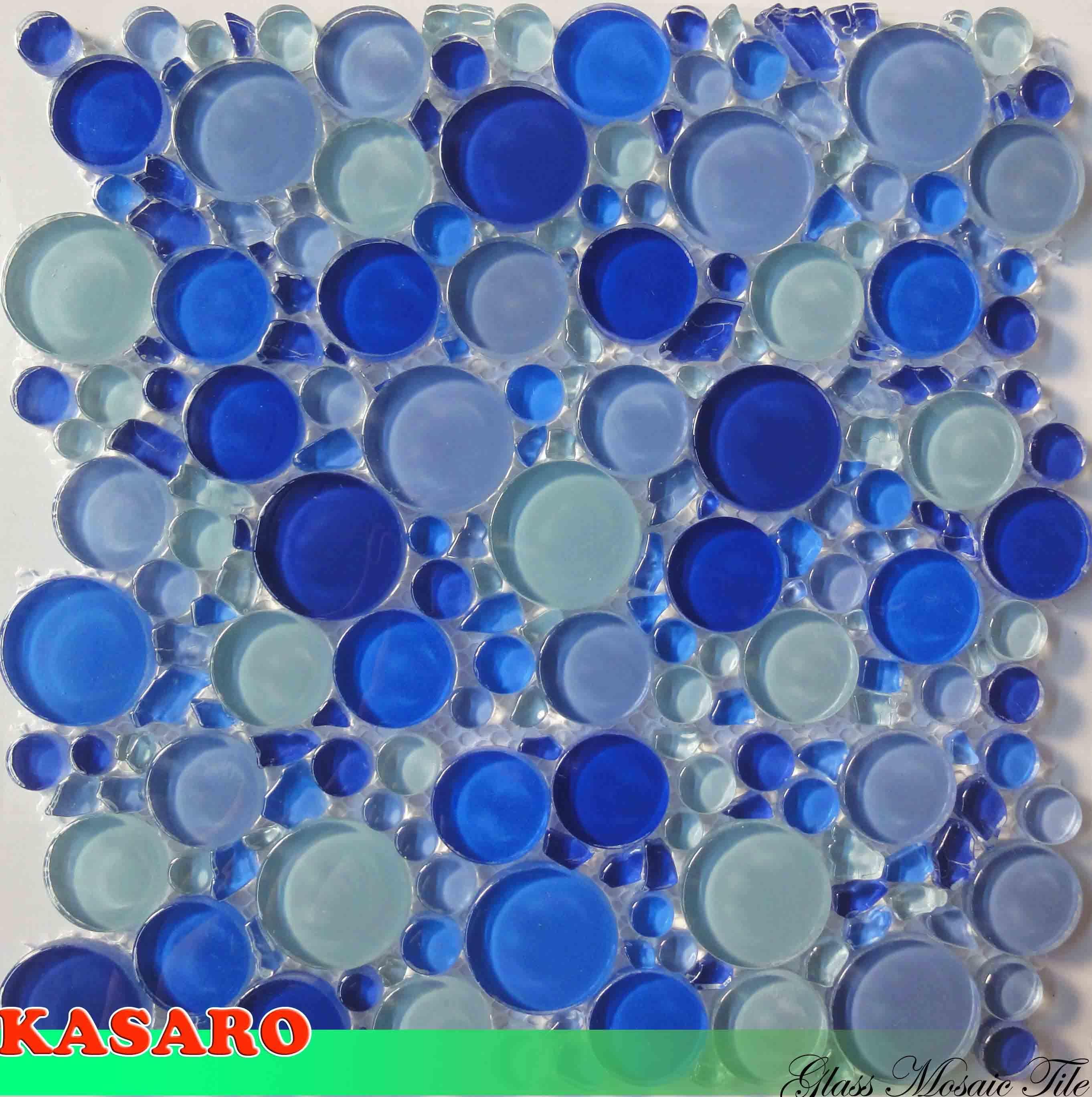 Azulejos Baño Azules:mosaico del vidrio cristalino de los azules (KSL124138) – Azulejo