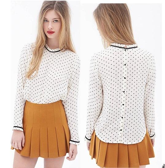 do projeto novo modelo da blusa das mulheres do oem blusa chiffon das senhoras