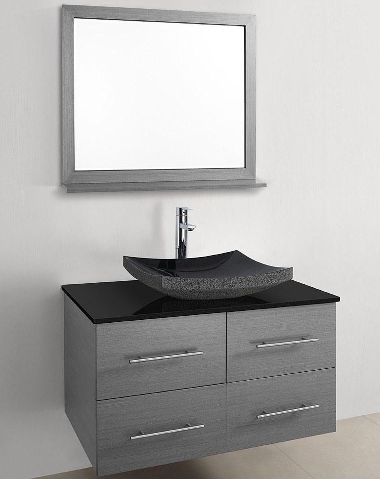 Cabinet fix au mur de vanit de salle de bains de contre for Produit contre moisissure salle de bain