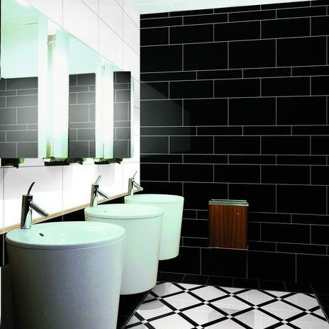 Azulejo negro estupendo de la porcelana bm36001g - Azulejo negro ...