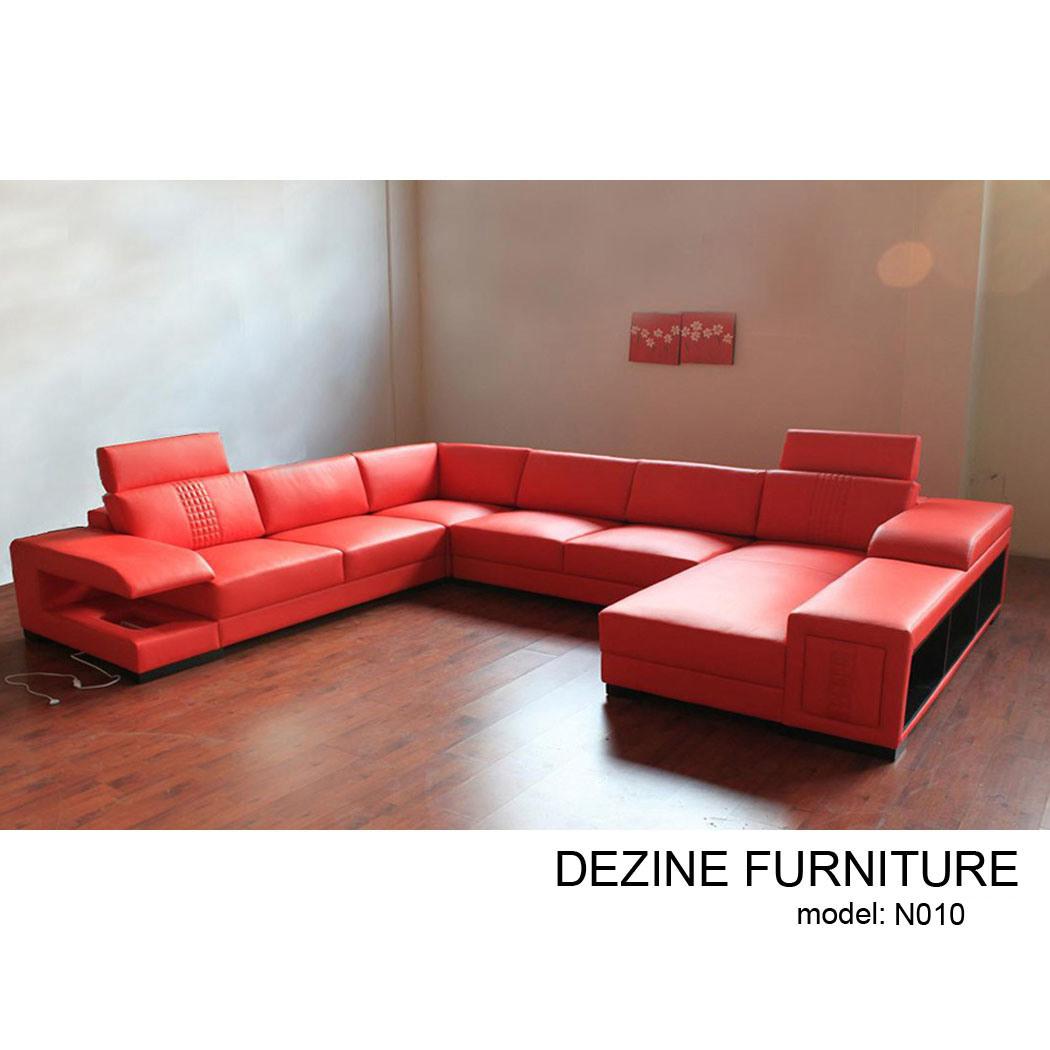 Sof de cuero moderno del hogar del sof n010 sof de cuero moderno del hogar del sof n010 Xinlan home furniture limited