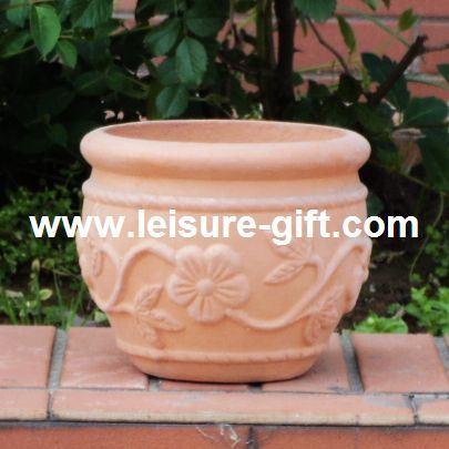 Pot de fleur la maison antique de la terre cuite fo 9908 for Recoller de la terre cuite