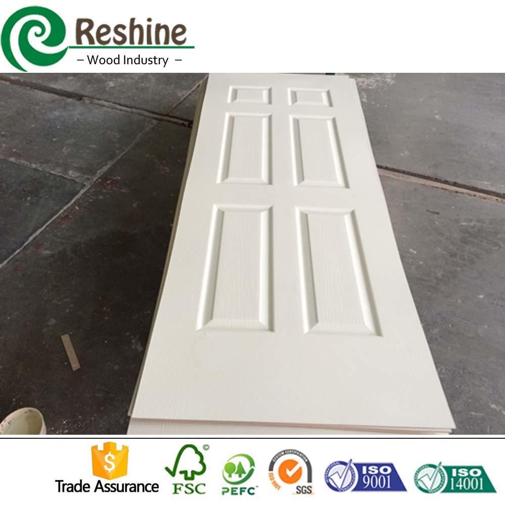 Porte blanche moderne d'amorce de porte moulée par HDF de modèle ...