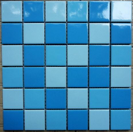 Foto de azulejo de mosaico de cer mica azul para el cuarto - Ceramica azul para banos ...
