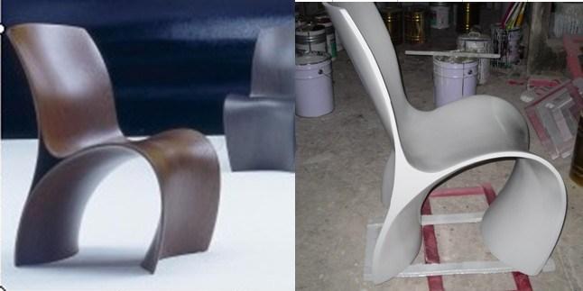 Silla de panton muebles de la fibra de vidrio dl 002 for Muebles de fibra de vidrio