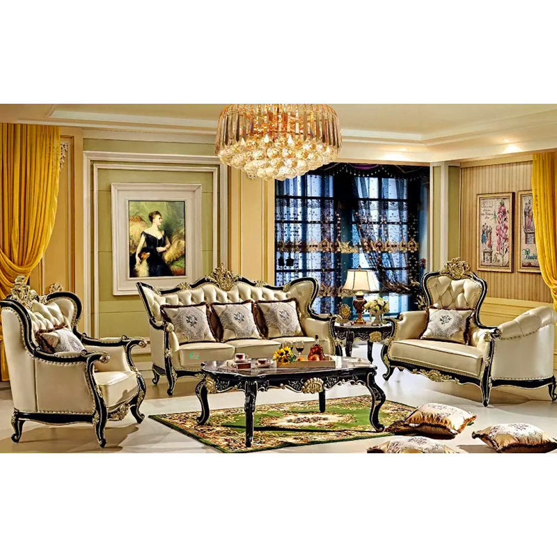 Meubles de salle de s jour avec le sofa en cuir en bois for Meuble de salle de sejour