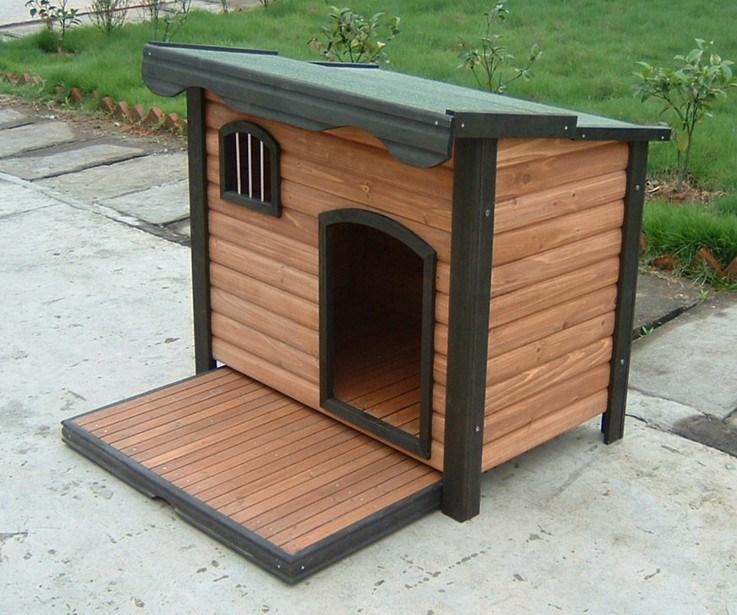 Casas de perros de madera imagui Casas para perros de madera